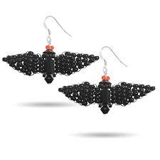 crystal bat halloween earring kit