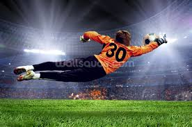 goalkeeper making a save wall mural wallsauce usa football goalkeeper wall mural photo wallpaper
