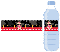 a star is born hollywood water bottle label baby shower water