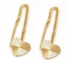 cercei de aur bijuterii aur cercei aur galben 14k model inimioara italia cu