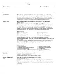 resume template mba sample internship cv intended for one page