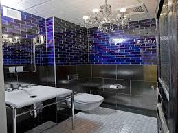 small bathroom chandelier cobalt blue tile bathroom ideas royal
