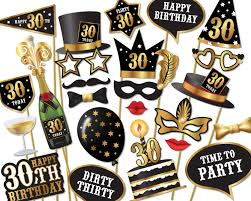 30th birthday photo booth props instant download printable