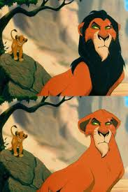Lion King Cell Phone Meme - scar resembles zira with no mane in disney lion king