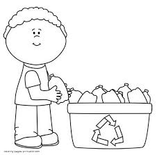 paper recycling bin coloring page for coloring pages glum me