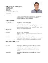 Sample Resume For Working Student by Sample Resume Of Jollibee Crew Resume Ixiplay Free Resume Samples