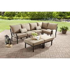Patio Sectionals Clearance by Mainstays Sandhill 7 Piece Outdoor Sofa Sectional Set Seats 5