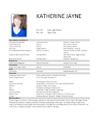 Dancer Resume Examples by Ballet Resume Sample