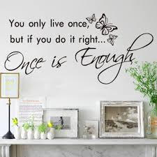 popular wall stickers text buy cheap wall stickers text lots from you only live once art vinyl quote decal mural room home wall sticker decor text butterfly
