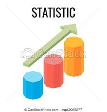 growing chart statistic growing chart with arrow going up three vectors