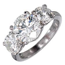 new stone rings images Mg three stone diamond platinum engagement ring for sale at 1stdibs jpg