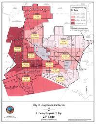 Map Of Long Beach Lb Unemployment Map Building Healthy Communities Long Beach