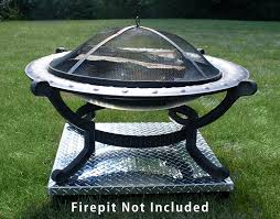 Can I Have A Fire Pit In My Backyard by Amazon Com Deck Defender U0026 Grass Guard Fire Pit Heat Shield