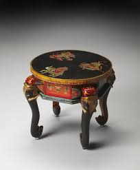 Painted Accent Table Artifacts Kerala Hand Painted Elephant Accent Table Home