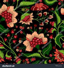 seamless pattern fantasy natural wallpaper stock vector