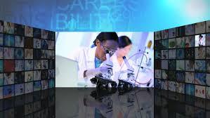 3d Vidio Cg Montage Video Wall Of Futuristic Medical Virtual Monitor