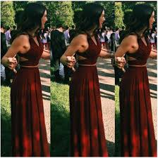 lolipromdress review lolipromdress red halter floor length a line stretch satin two