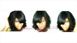 medium quick weave hairstyle black long hairstyles with layers