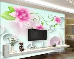 wallpaper bunga lingkaran beibehang ungu bunga lingkaran 3d tv latar belakang dinding papel de