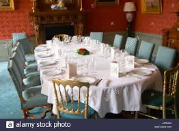 the luxurious classic old fashioned dining room set for a gala