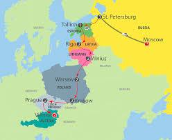 Moscow On Map K905 Moscow To Baltic States Poland Prague U0026 Vienna
