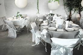 decoration de mariage et blanc table de mariage colombe nuances de blanc et gris