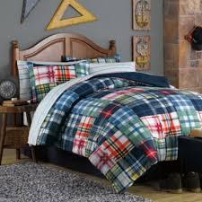 Plaid Bed Set Green Plaid Comforter Set Bedding Sets Setss 5 Flannel Whereibuyit