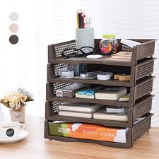 boite de rangement papier bureau de bureau cosmétiques boîte de rangement bureau a4 papier fichiers