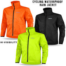 cycling outerwear mens cycling rain jacket waterproof high visibility running top