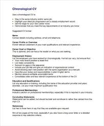 free professional chronological resume template professional