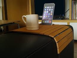 atos couch arm table with device stand for the best relax by