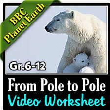planet earth from pole to pole video worksheet editable