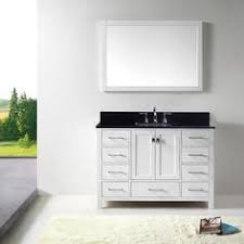 virtu usa caroline 48 inch single sink bathroom vanity set
