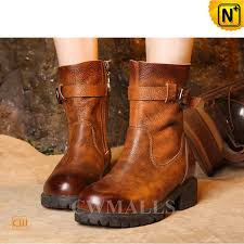womens leather boots womens designer leather biker boots cw305121