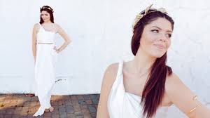 diy greek goddess halloween costume no sew youtube