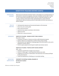 an example resume sample resume for substitute teacher sample resume and free sample resume for substitute teacher elementary school teacher resume example substitute teacher resume template