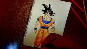 imagenes de goku para dibujar faciles con color como dibujar a goku para principiantes how to draw goku for