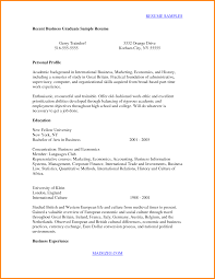 Resume Samples College Graduate by Resume Template Recent College Graduate Resume For Your Job