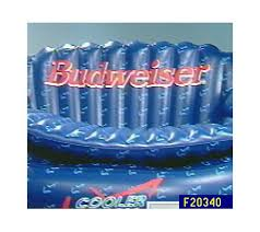 Inflatable Sofa Budweiser Cooler Couch Inflatable Sofa And Cooler U2014 Qvc Com