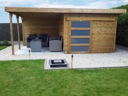 bureau de jardin en kit abri jardin toit plat bureau de jardin en kit bois stig 28mm 7m2