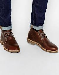 cheap men shoes red wing foreman leather chukka boots