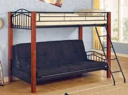 Amazoncom Coaster Furniture Twin Over Futon Bunk Bed In Black - Furniture bunk beds