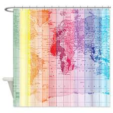 amazon com cafepress rainbow world map shower curtain