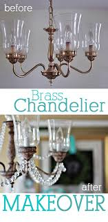Brass Chandelier Makeover Dining Room Brass Chandelier Makeover In My Own Style