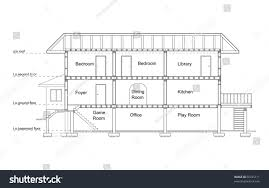 vector shows crosssection house stock vector 66325711 shutterstock