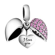 sterling silver crystal heart bracelet images I love you heart charm bead crystal 925 sterling silver fits jpg