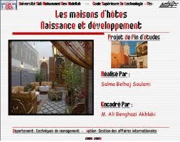 statut chambre d hote memoire maisons d hôte naissance et développement salma