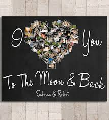 i you to the moon back personalized photo gift