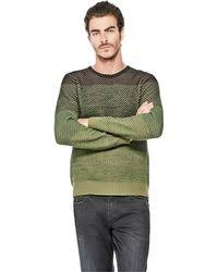 calvin klein jeans vertical ombre knit sweater for men lyst