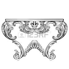 vintage dressing table and mirror frame luxury rich carved